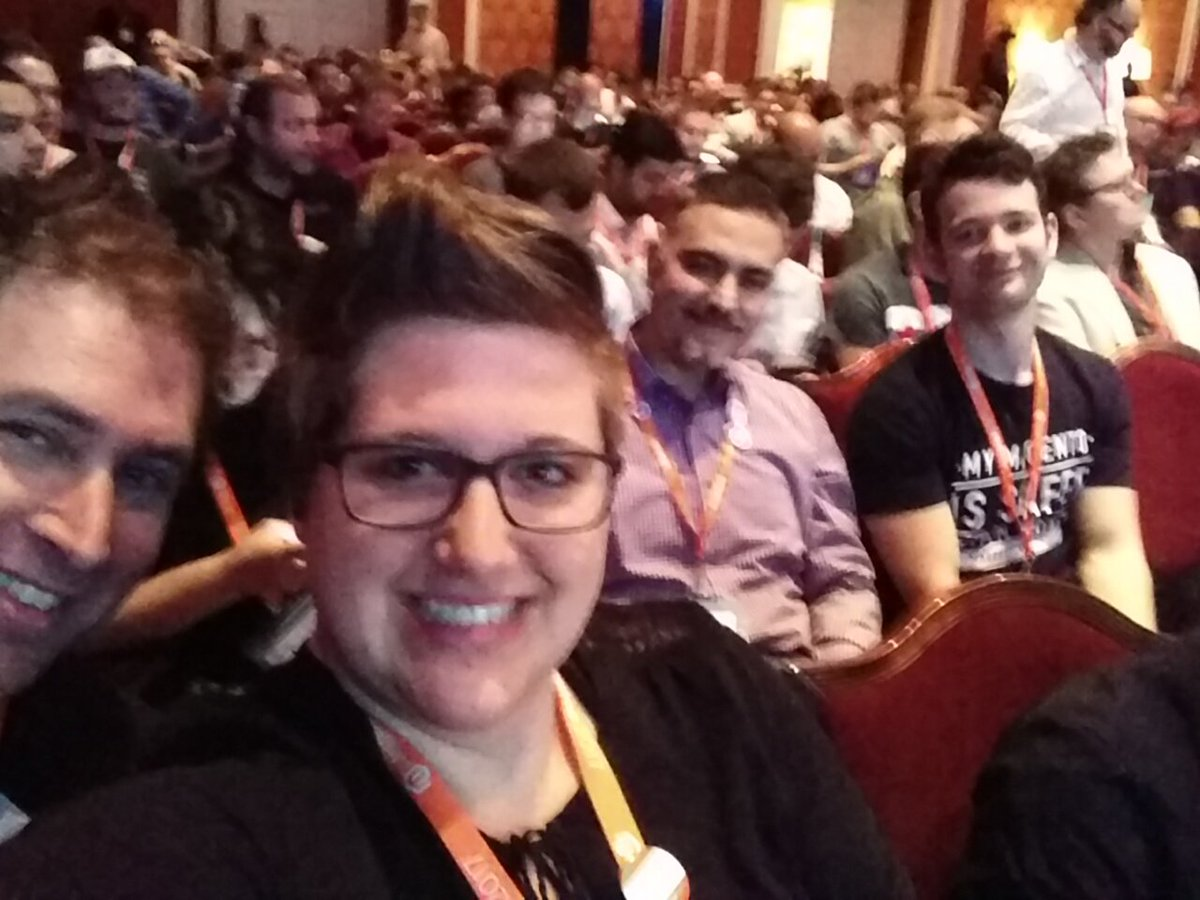 rescueAnn: Time to get #MagentoImagine started with a session about extension quality. https://t.co/5vcMs1Cz9y