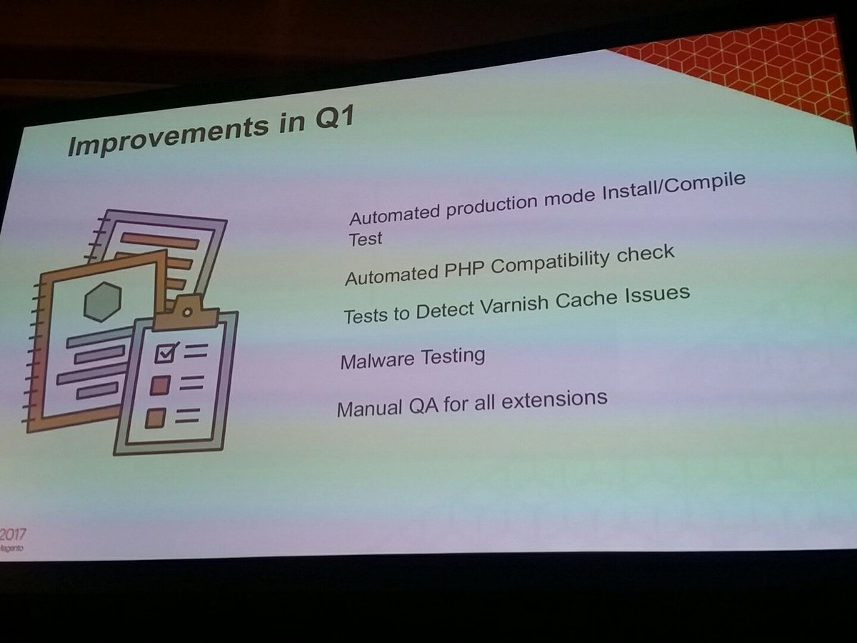 mzeis: Quite some improvements already implemented in Q1 #MagentoImagine https://t.co/ZxXXyDDQFS
