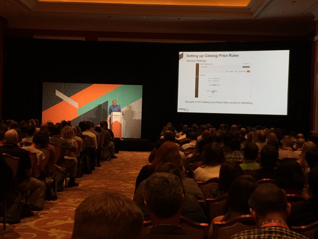 magento_rich: Checking out the @MagentoU session on advanced marketing features in M2. #MagentoImagine https://t.co/P1LXpaaLuE
