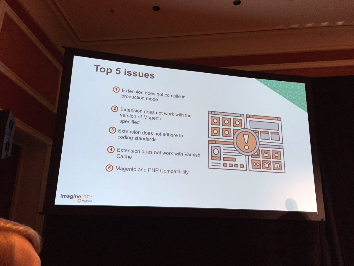 OSrecio: Top 5 issues, Submission extensions to Magento Marketplace #Magentoimagine https://t.co/emzRWty5ER