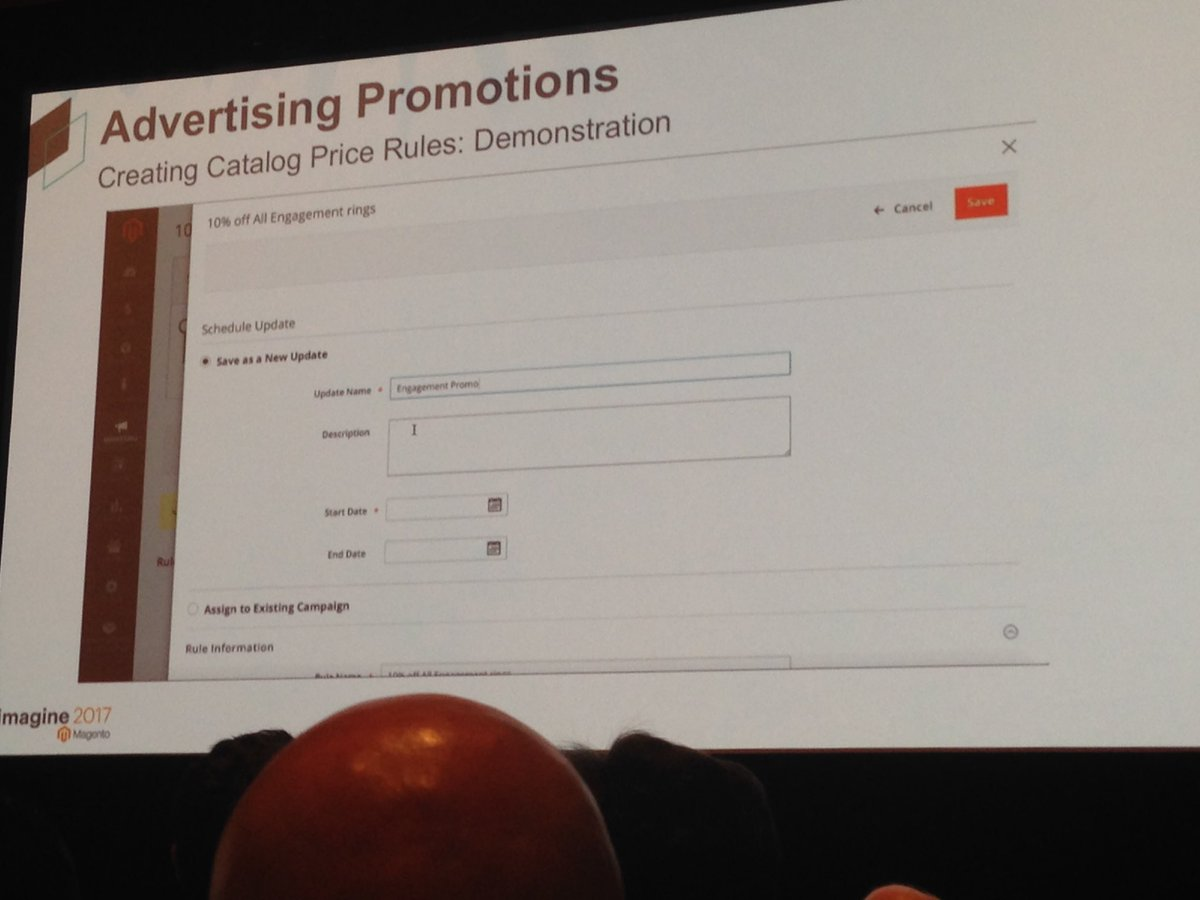 SheroDesigns: Schedule an update for your catalog price rule with a start & end date #staging&preview in #magento2 #Magentoimagine https://t.co/idd2Exyay5