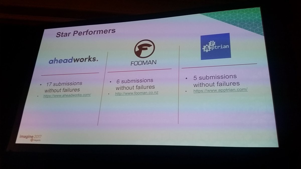 mzeis: Praises for @Aheadworks, @foomanNZ and Aptrian! #MagentoImagine https://t.co/6BXGDAfFYE