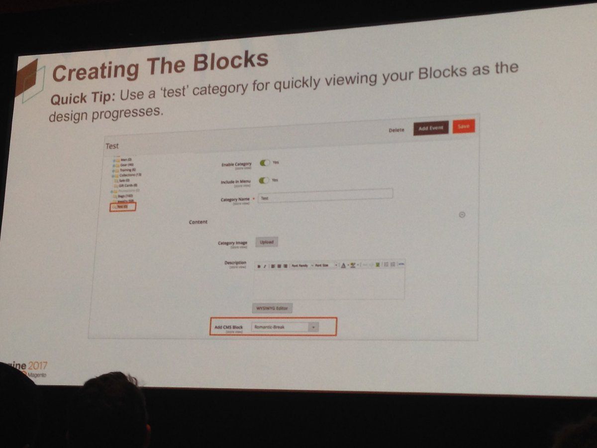 SheroDesigns: Quick tip: Use a test category for quickly reviewing blocks in #magento2 #Magentoimagine https://t.co/z4C9FU5m8z