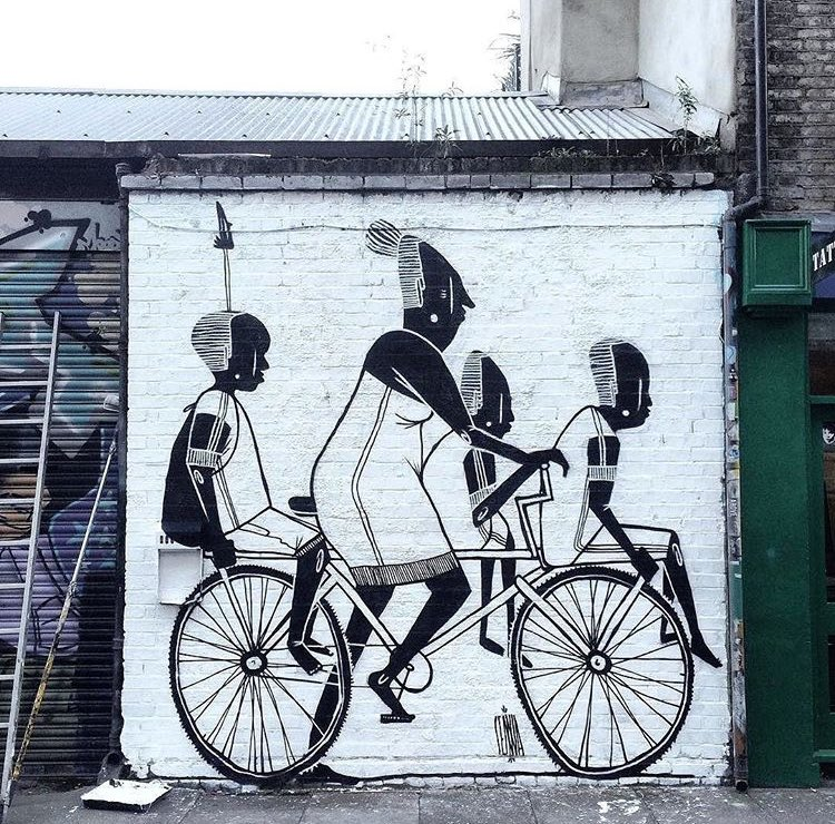 Street Art by Alex Senna found in London   #streetart #art #arte