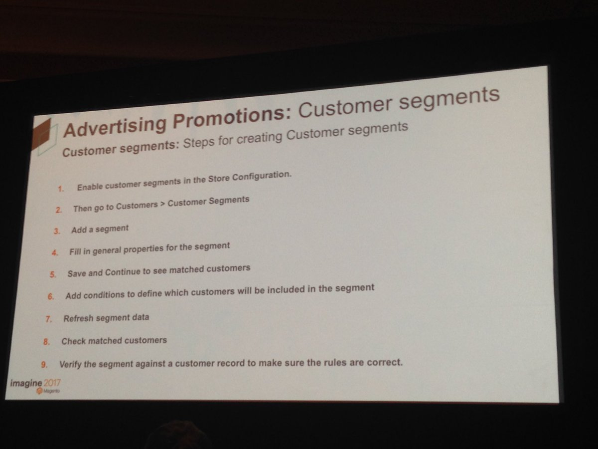SheroDesigns: Customer Segments in #magento2 101 can be very useful for #marketing  #Magentoimagine https://t.co/gHw9FBgoJX