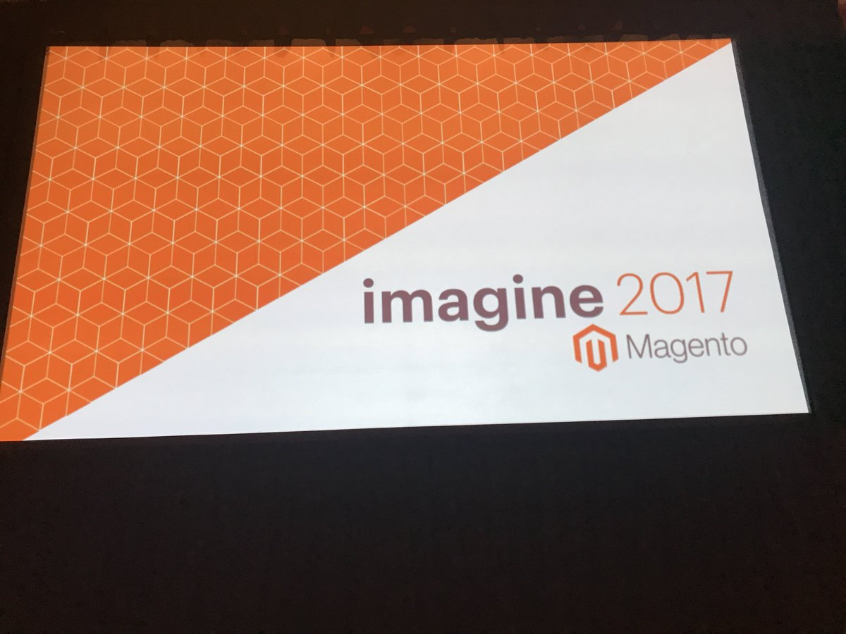 jhuskisson: Front row at #MagentoImagine for the talk on better mobile conversions. https://t.co/g5qjPQiBCv