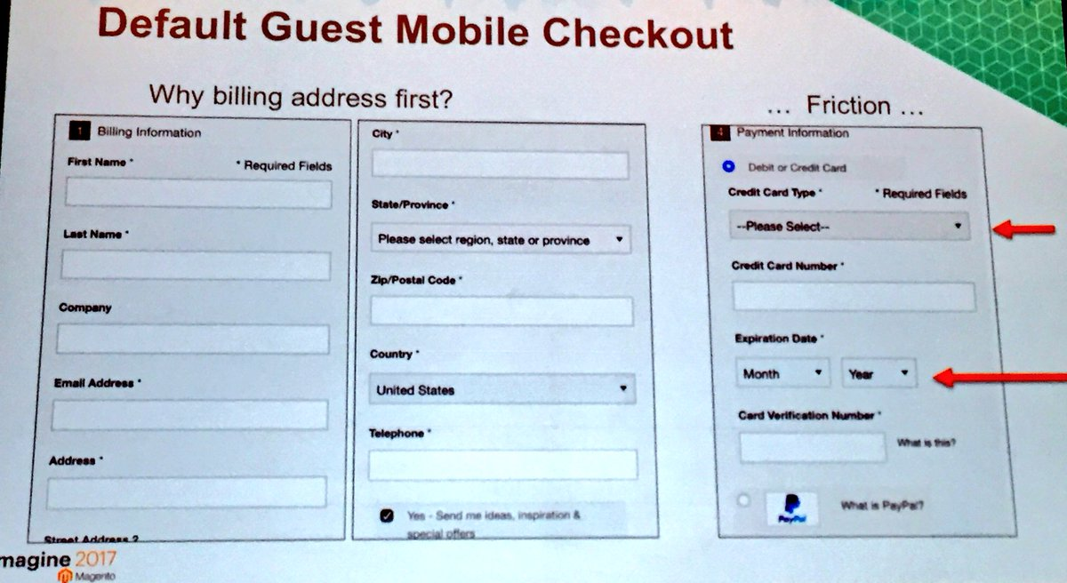 annhud: Magento v1 mobile checkout - spot the friction points... #magentoImagine https://t.co/sDsbZGiOOd