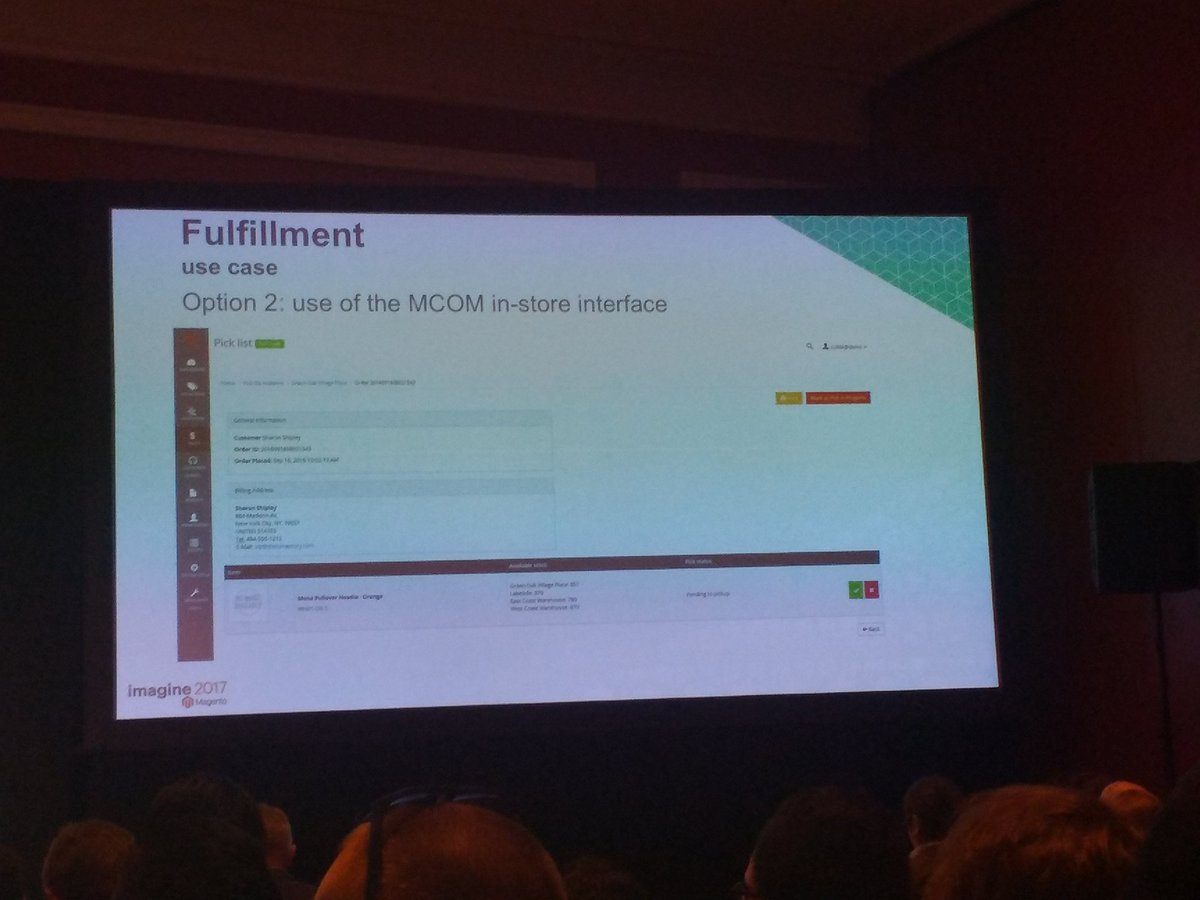 avstudnitz: Nice to see that MCOM (Magento Order Management) is directly integrated into #Magento2. #Magentoimagine https://t.co/7gG8GQHBFZ