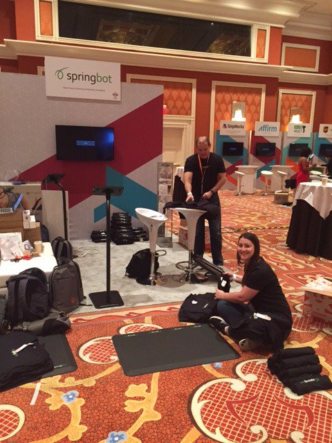 springbot: Setting up booth 304 at #MagentoImagine! https://t.co/OEIJo0pm8x