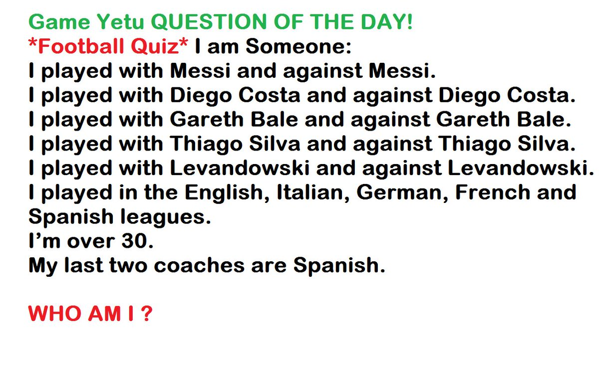 game yetu question of the day football quiz i am someone. Black Bedroom Furniture Sets. Home Design Ideas