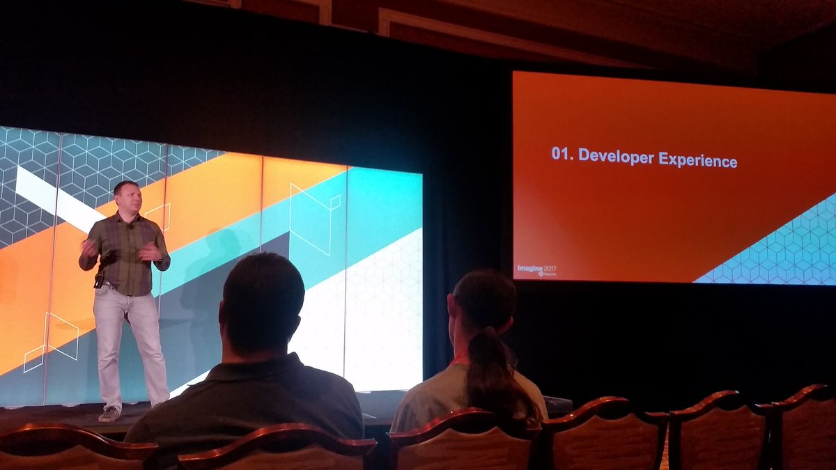 mzeis: Last session for today: @maksek_ua on developer experience. #MagentoImagine https://t.co/ZXVUc9RZxV