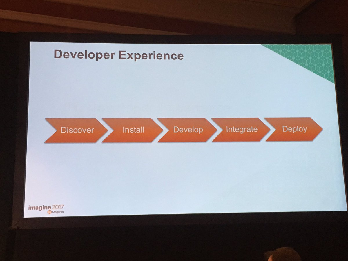 onetreeows: Now Technical Deep Dive: DevExperience #MagentoImagine https://t.co/7FBGV45stN
