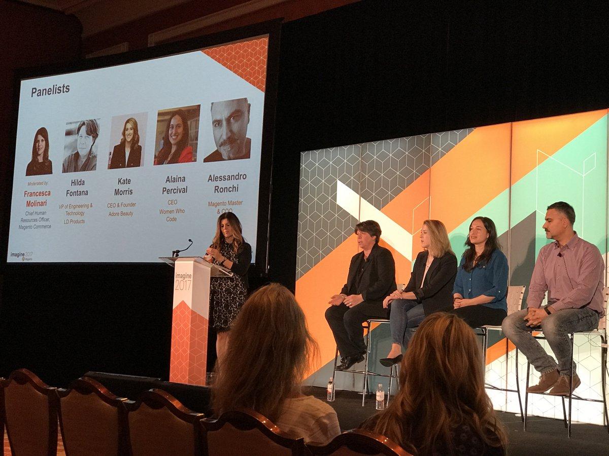 wearejh: The diversity in tech panel gets started at #MagentoImagine https://t.co/LSRIr4QDAV