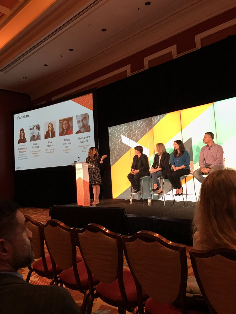 mklave1: @FJM8 kicks off the first ever #Magentoimagine session on diversity to a packed room! https://t.co/VlykSb8MrN