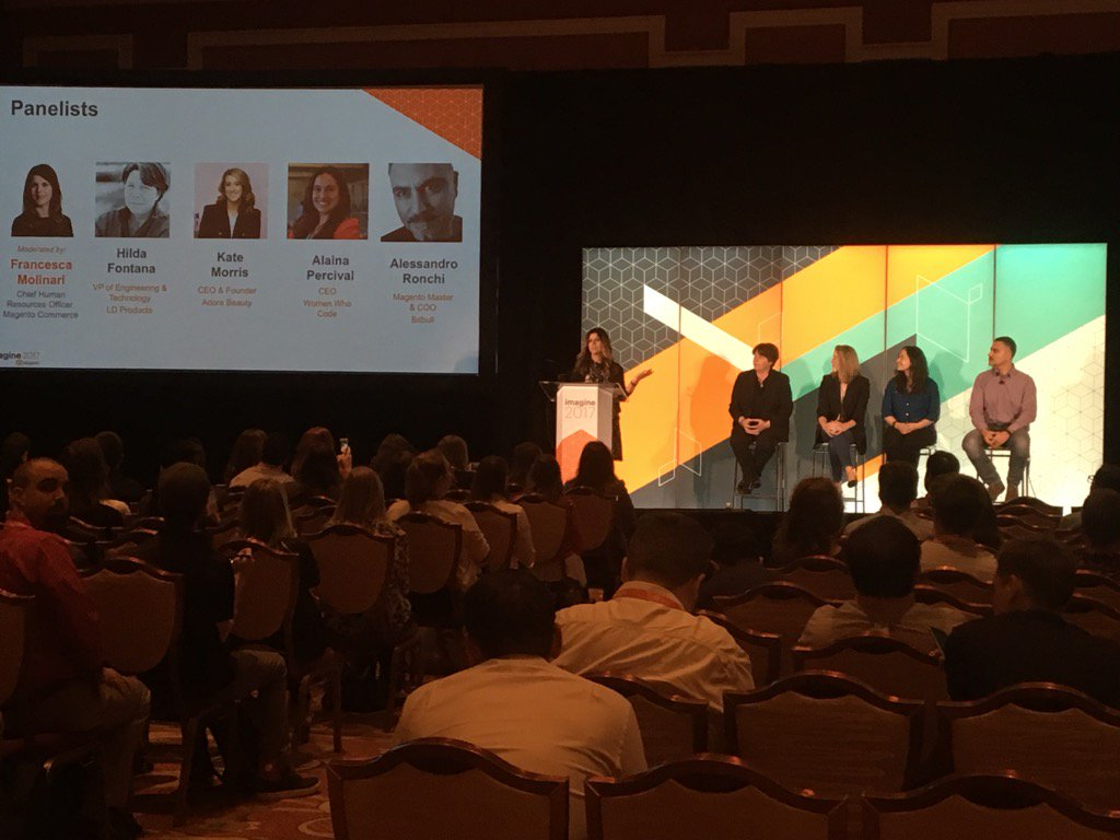 Beth_bef_BethG: Excited to hear about diversity at #Magentoimagine https://t.co/fpzFagEPAt