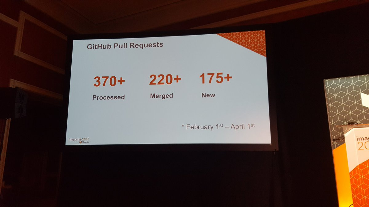 mgeoffray: #Magento GitHub Pull Requests in two months #Magentoimagine #realmagento https://t.co/nT19cKM7In