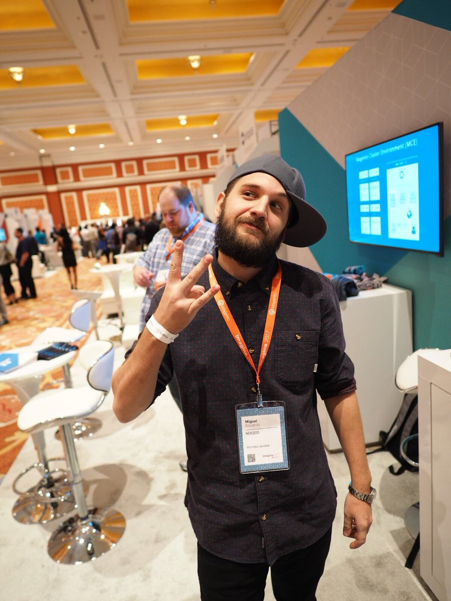 nexcess: .@mbalparda modeling the Nexcess #MagentoImagine swag. Come get some. https://t.co/9ImeU61zdW