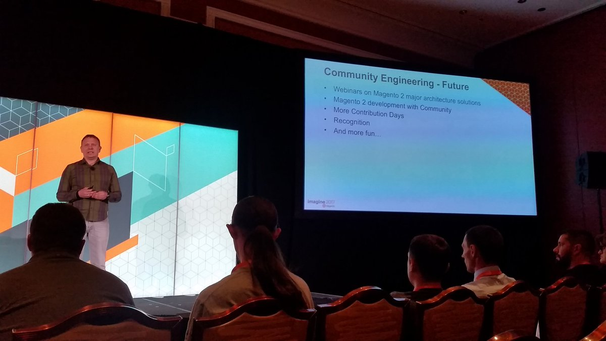 mzeis: Just announced: Magento will present planned architectural changes before they are implemented. #MagentoImagine https://t.co/11qsnatK7m