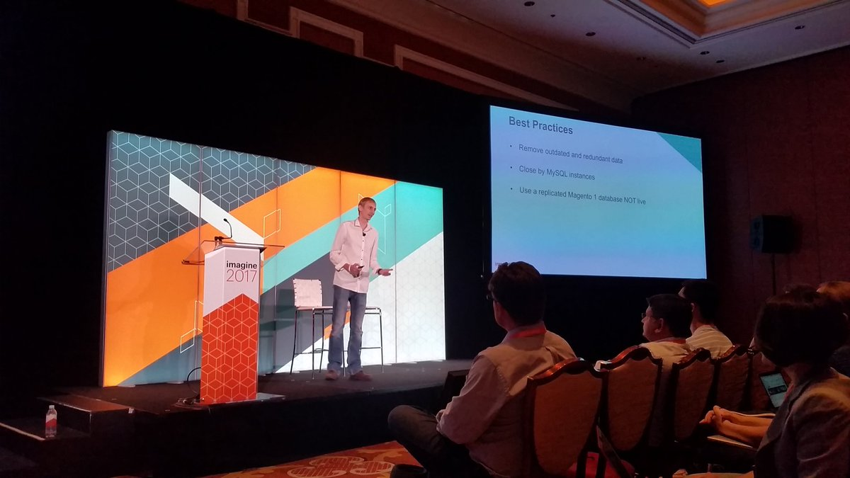 mzeis: Wise tip by @jcowie: use a replica database for migrating. #MagentoImagine https://t.co/eTW9wVbNLL