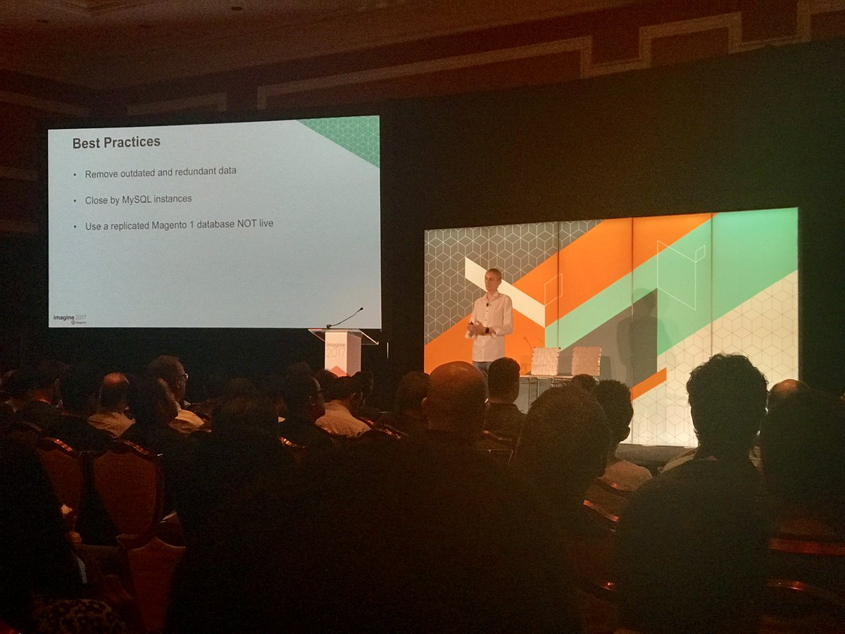 fisheyeweb: M1 to M2 migration tips from @jcowie - use a replicated database NOT live! #MagentoImagine https://t.co/urQNDOt3di