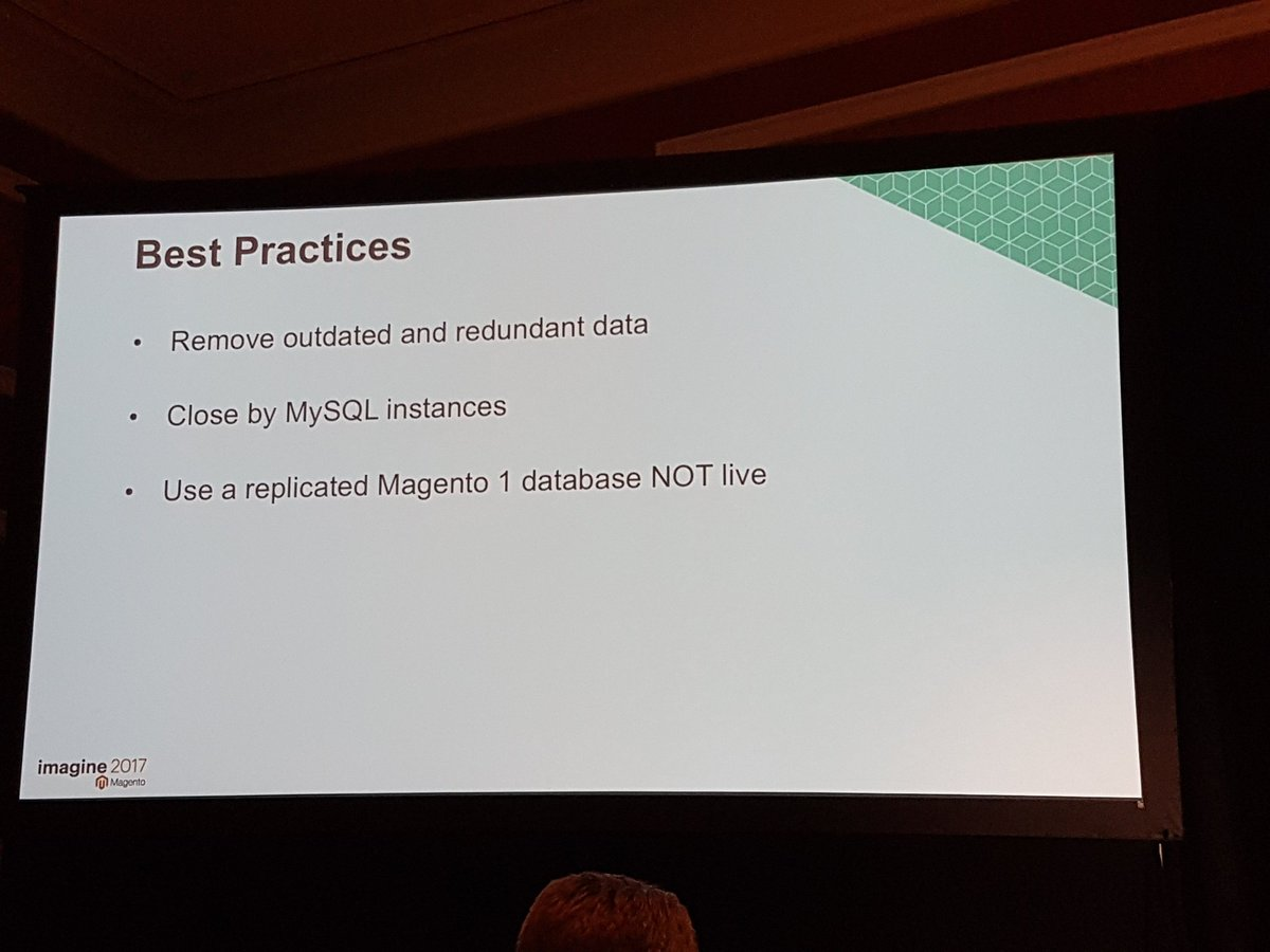 rlieser: 'Do not use your M1 live database for migration actions.' I hope that is self explanatory... 😊 #Magentoimagine https://t.co/dGd48rh24c