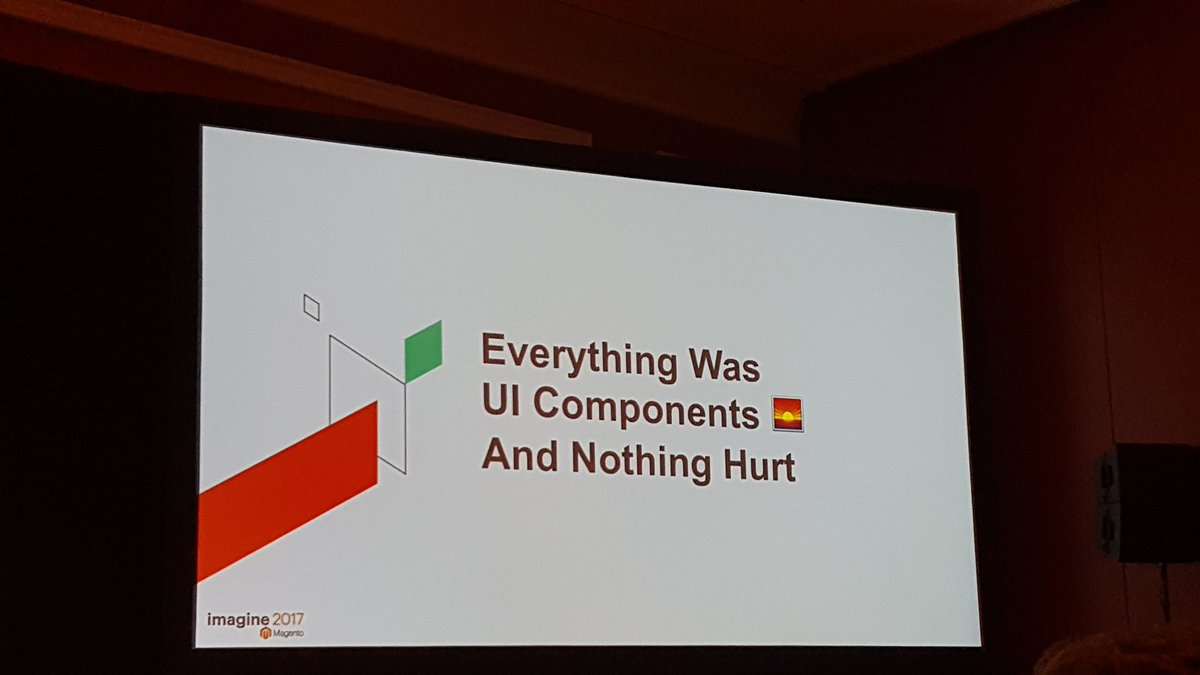 mgeoffray: Demystification of UI components by @JamesZetlen at Margaux 1 #Magentoimagine #realmagento https://t.co/sOGfsGExb4