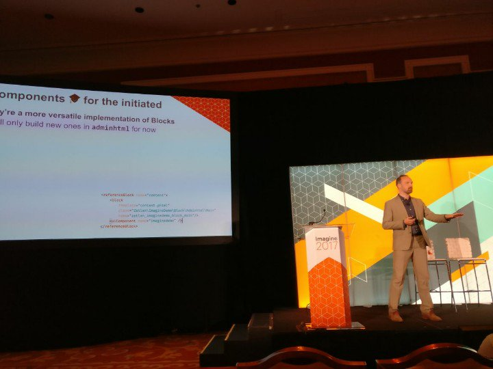 cmuench: Very excited to hear @JamesZetlen talking about the Magento UI Components. #MagentoImagine https://t.co/kNQ7SE0eCA