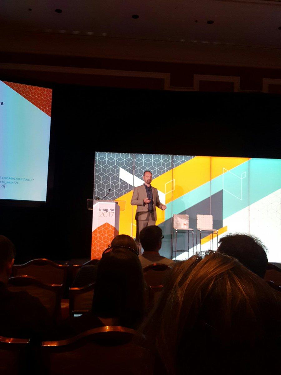 D_n_D: [Magento Imagine] Sur scène @JamesZetlen pour parler des UI Components #Magentoimagine #Magento https://t.co/pQqMWlPKMN