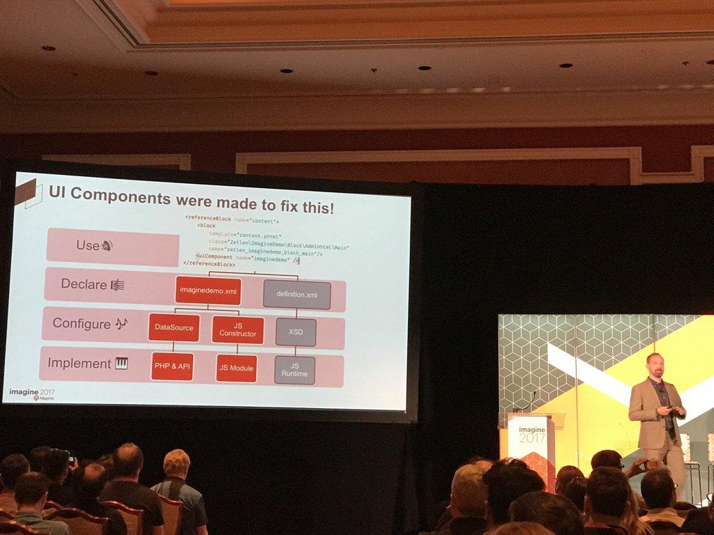 maksek_ua: #MagentoImagine @JamesZetlen UIComponents fix over complexity https://t.co/qDWCjzDobi