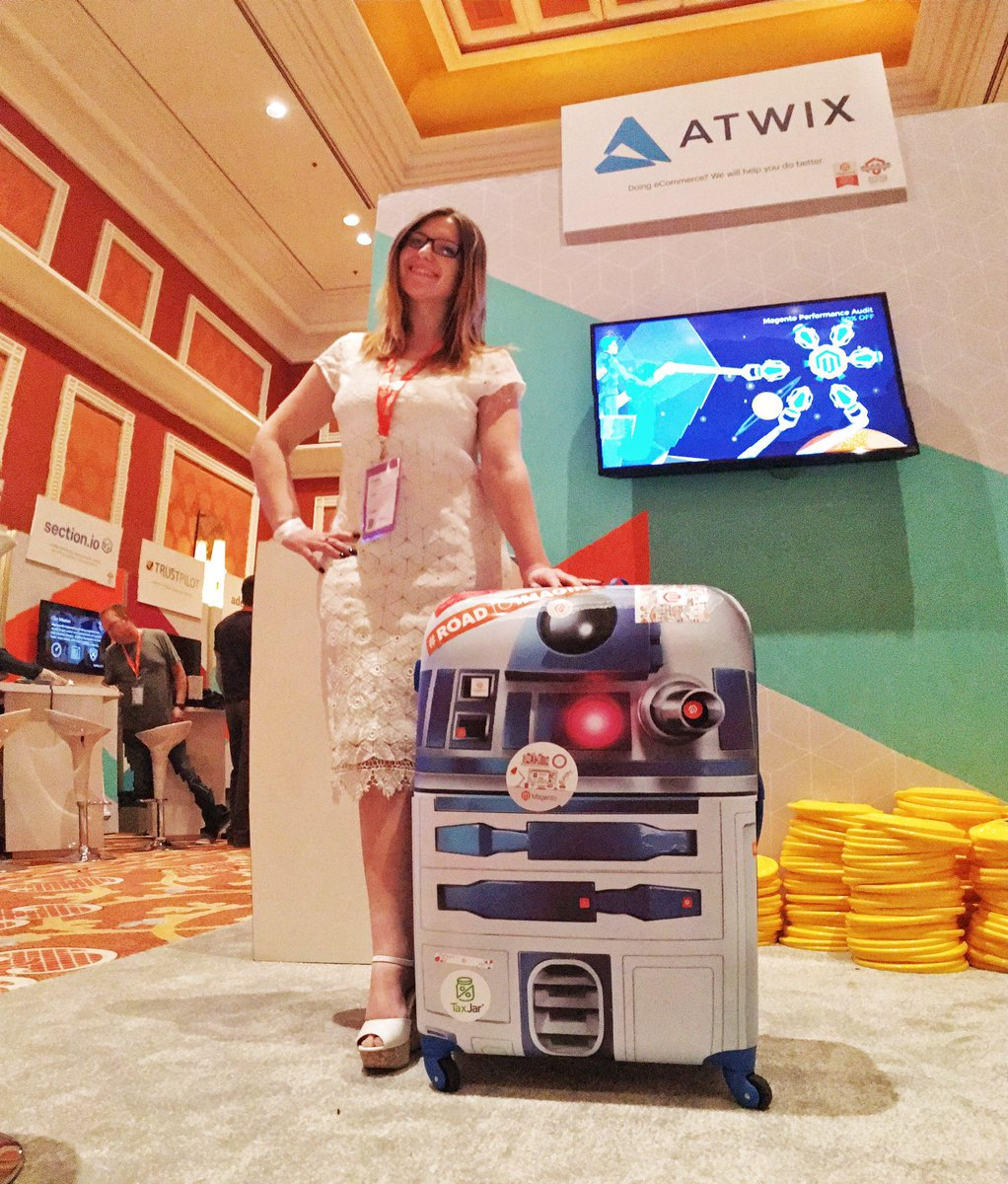 atwixcom: Have a sticker? Come stick our R2D2 up and get some beautiful swag! #Magentoimagine https://t.co/ffgOpBFzdy