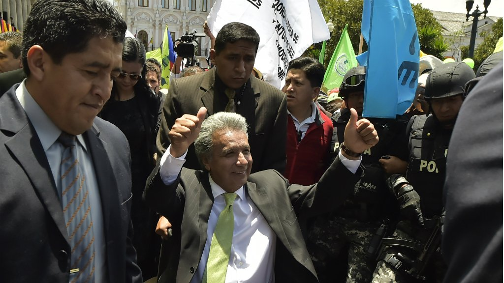 Leftist Moreno claims victory in Ecuador as rival cries fraud