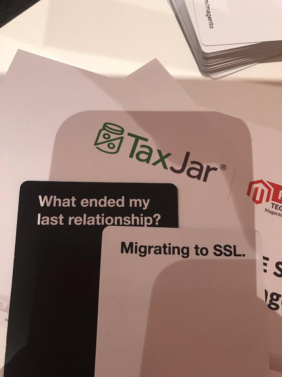 _Talesh: I have to the @TaxJar guys really do get me. #MagentoImagine cc/@TaxJarJenn https://t.co/DdTckJEpnz
