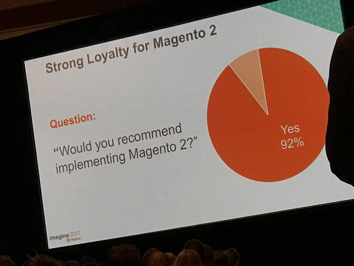 "wearejh: ""Would you recommend implementing Magento 2? 92% said yes"" #MagentoImagine https://t.co/SCq5Z4jbP8"