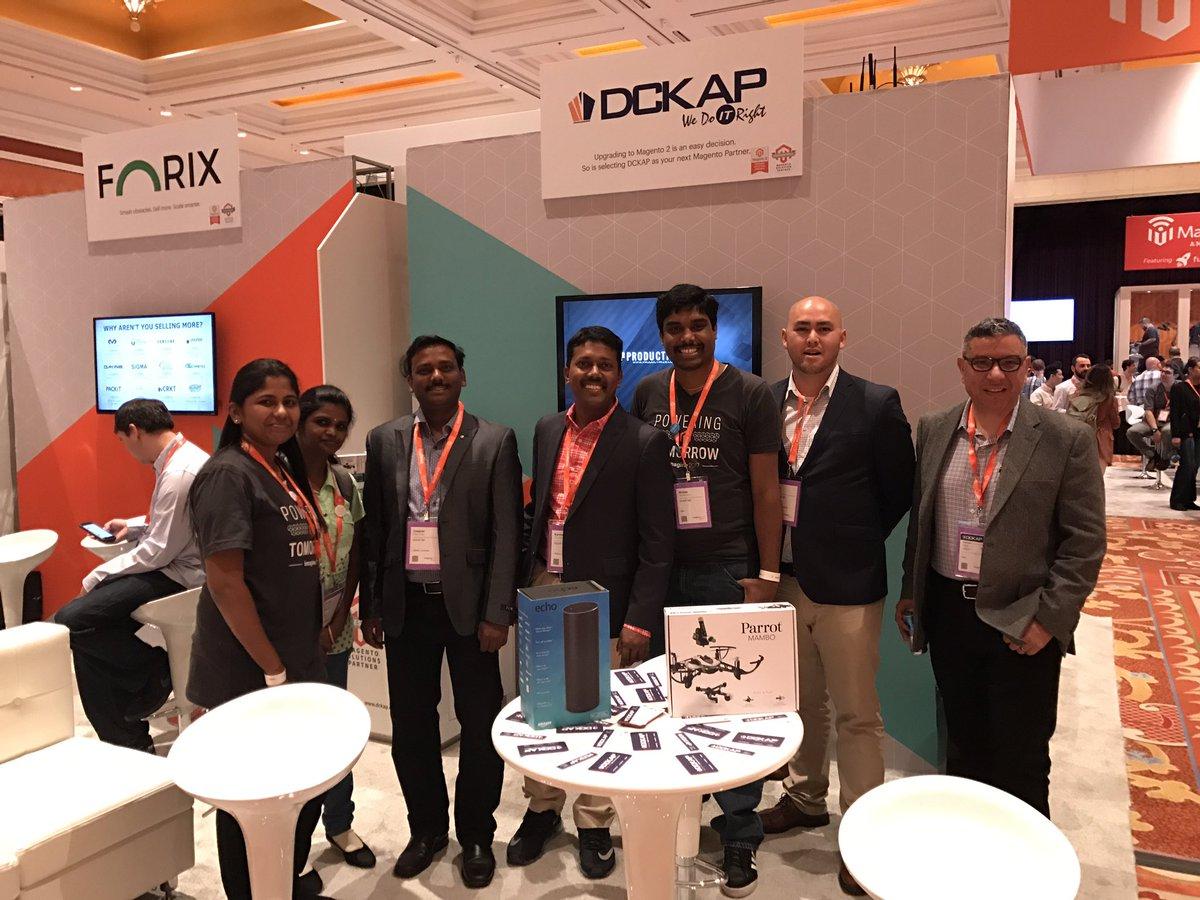 DCKAP: Meet the @DCKAP team and win an Amazon Echo /Parrot Drone. #MagentoImagine https://t.co/hIdyibaOL5
