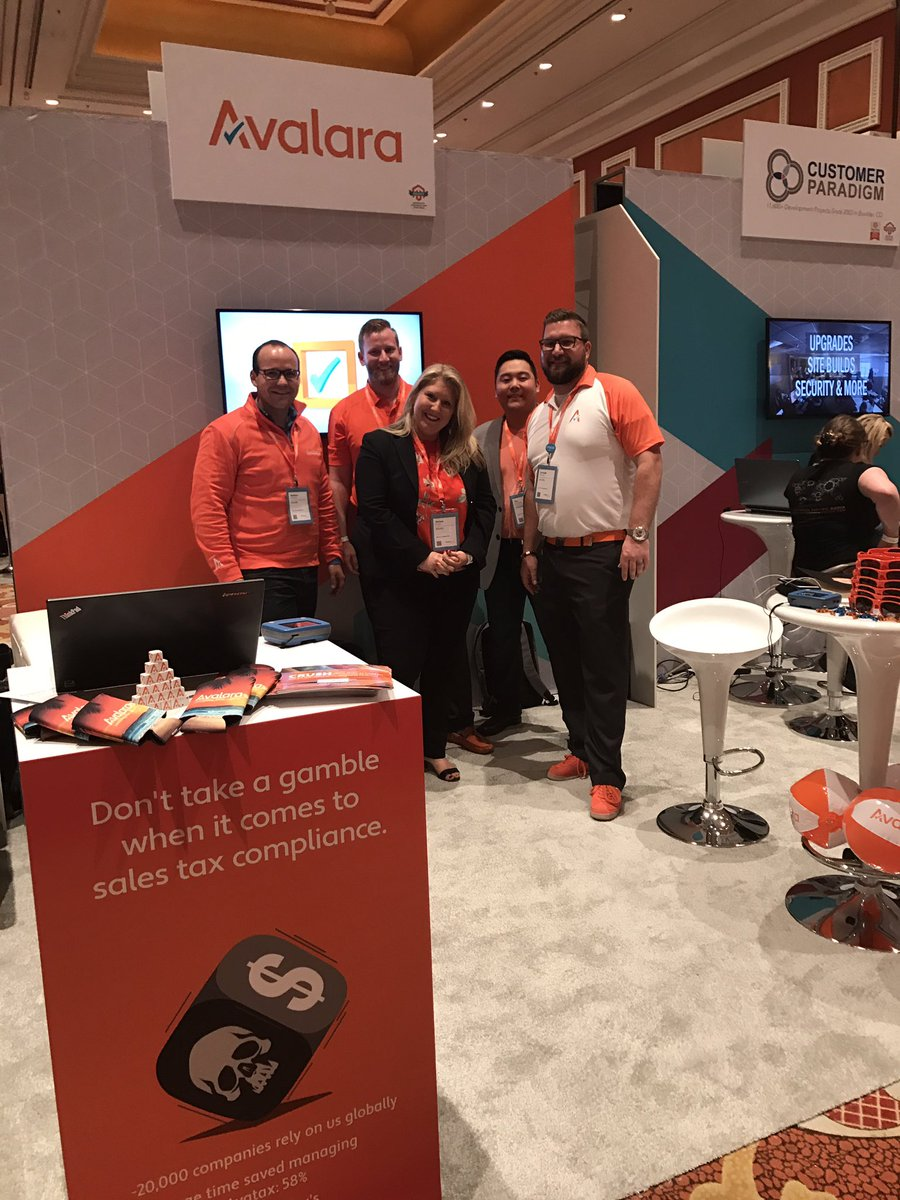 AmieeK_PMM: Don't take a gamble when it comes to sales tax compliance! Visit our booth at 208. #MagentoImagine https://t.co/6vn4GbrMPU