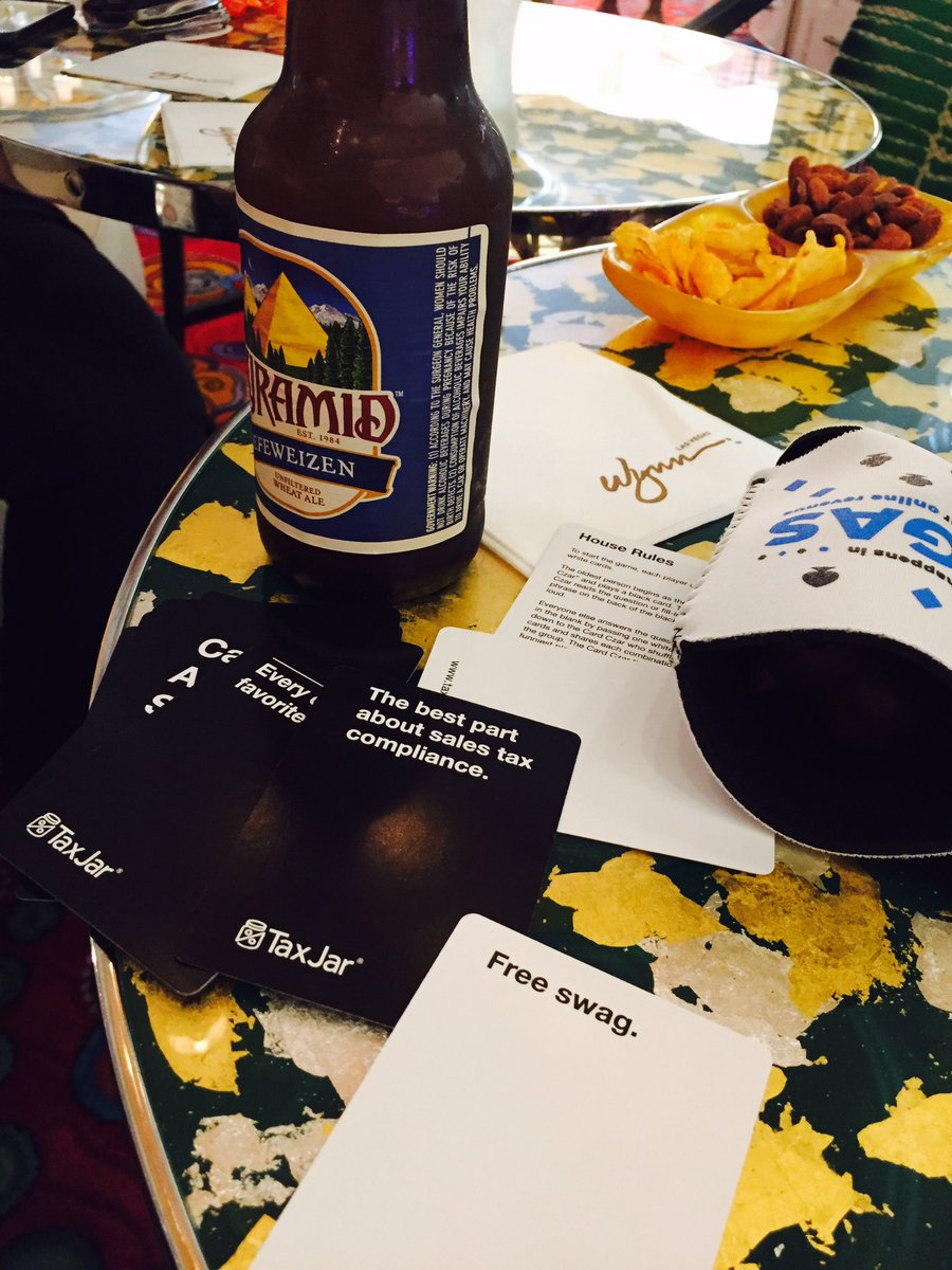 WebShopApps: Forget #Magentoimagine we are in the circle bar playing @TaxJar #cardsAgainstHumanity https://t.co/3raViiC0Iv
