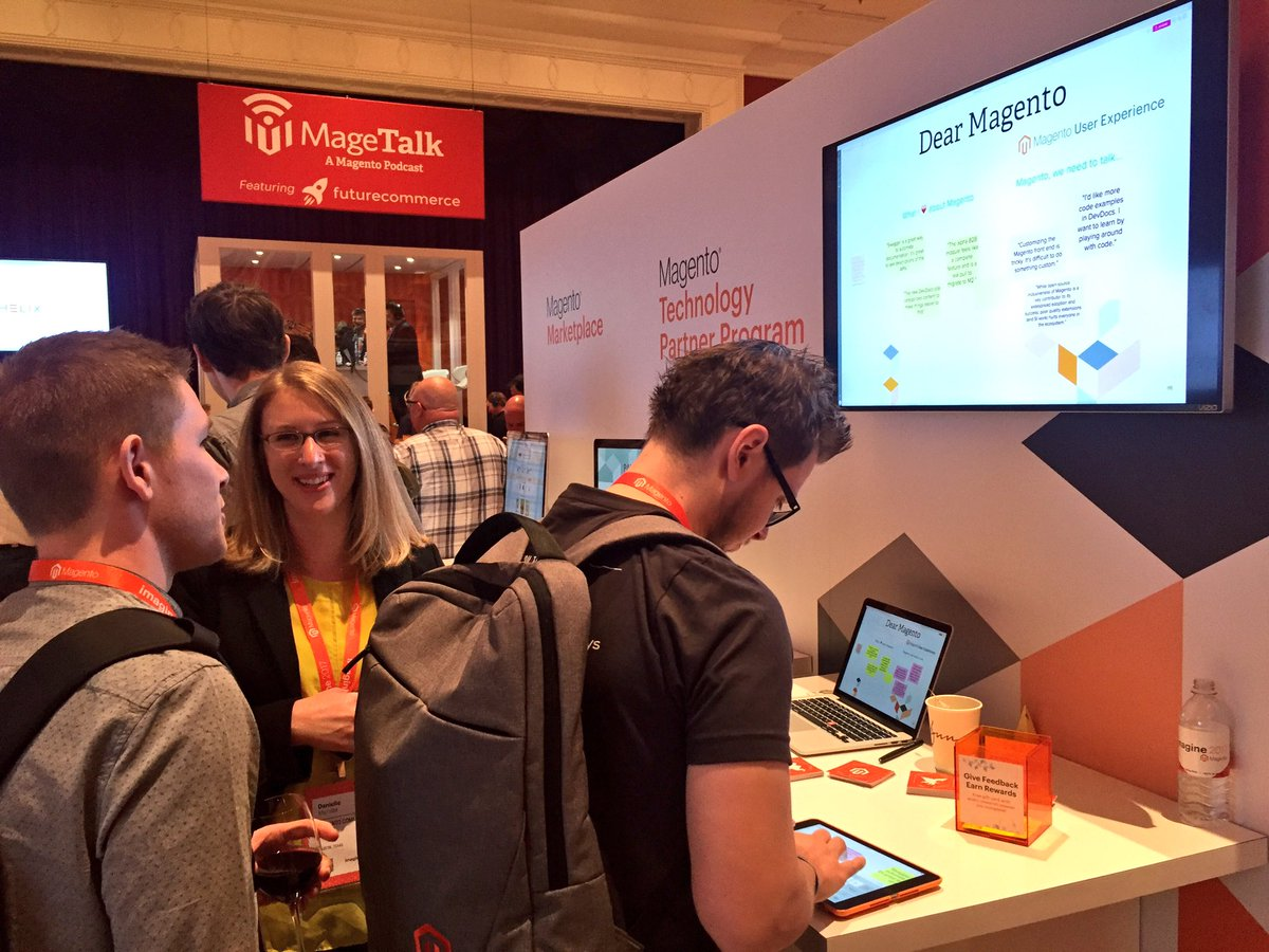 magento_ux: Give us feedback at the @magento_ux booth! #Magentoimagine #realmagento #ux https://t.co/6W9qu5yx1Y