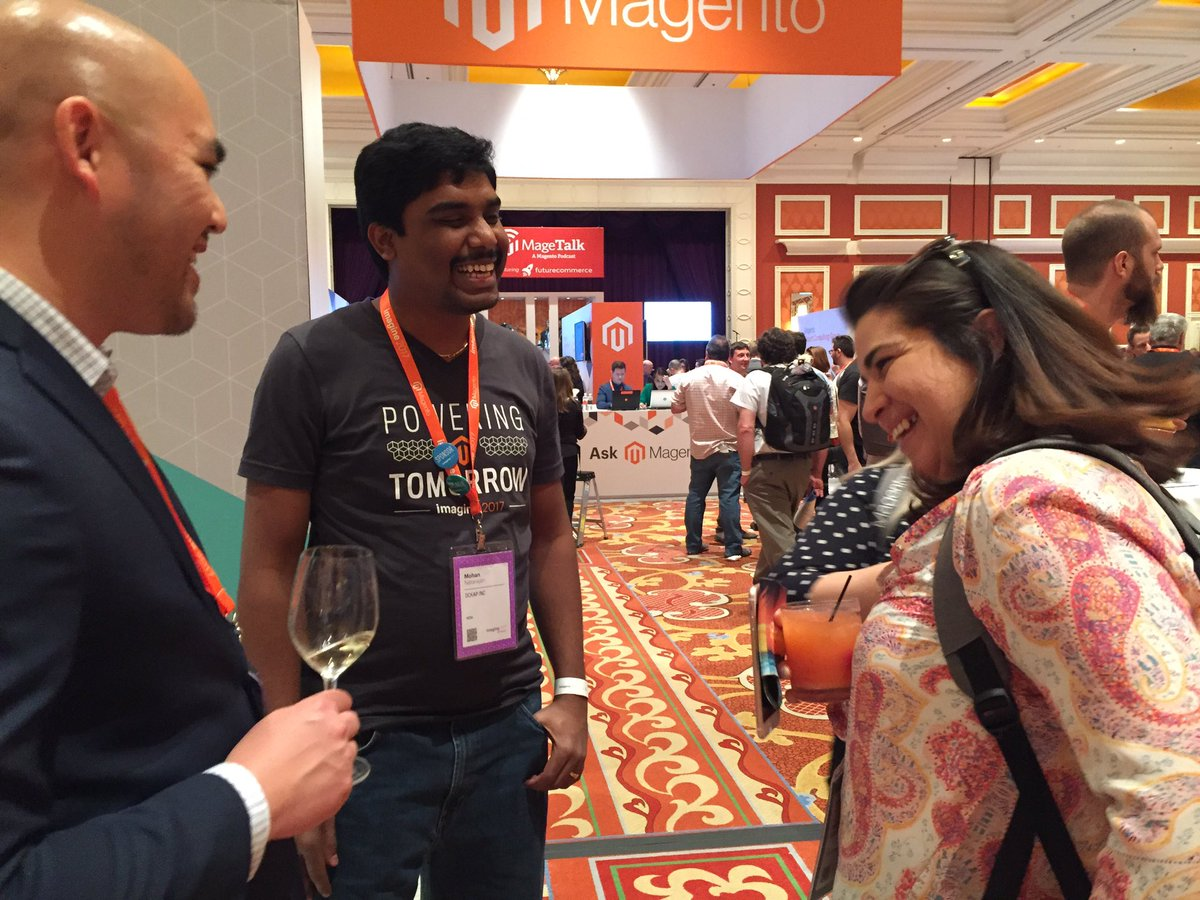 DCKAP: Our @magento solutions specialist is giving perfect solutions to the customers #Magentoimagine #imagine2017 https://t.co/wxWoFQQhpy