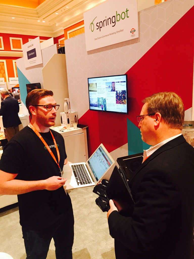 ebrookes: The @springbot team working it #Magentoimagine -- stop by, talk to Travis & get some swag https://t.co/fTZOVdqO35