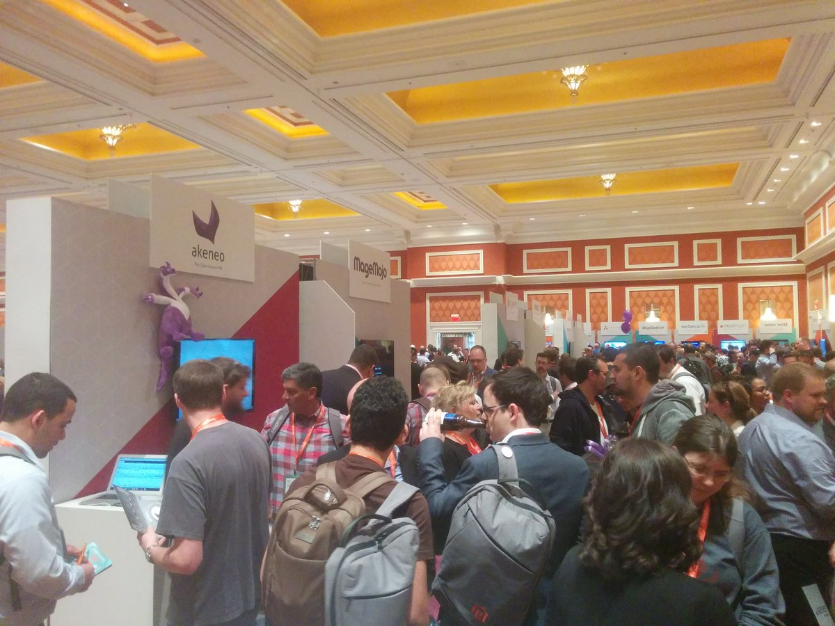 duponico: Crowded booth for #Akeneo #PIM at #MagentoImagine 🚀 🚀 🚀 https://t.co/Ml9LliEUD6