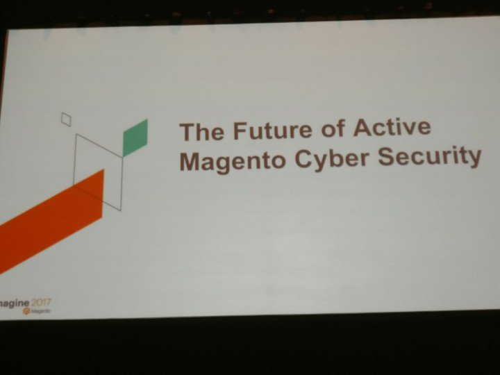 netz98: The future of Magento Cyber Security. #MagentoImagine https://t.co/PNbkVUwrH4