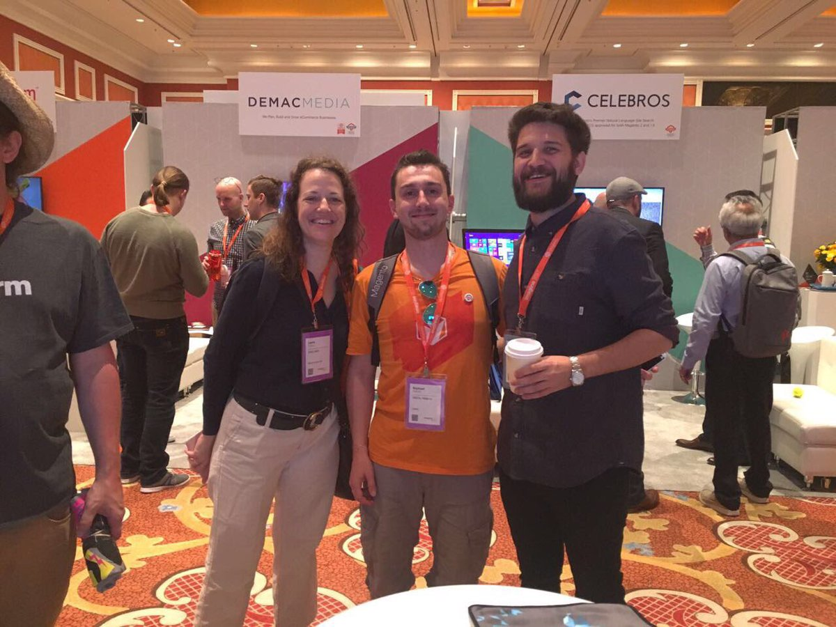 mbalparda: Look who I found! Meeting people IRL is awesome. #Magentoimagine https://t.co/C9NfYTZRpN