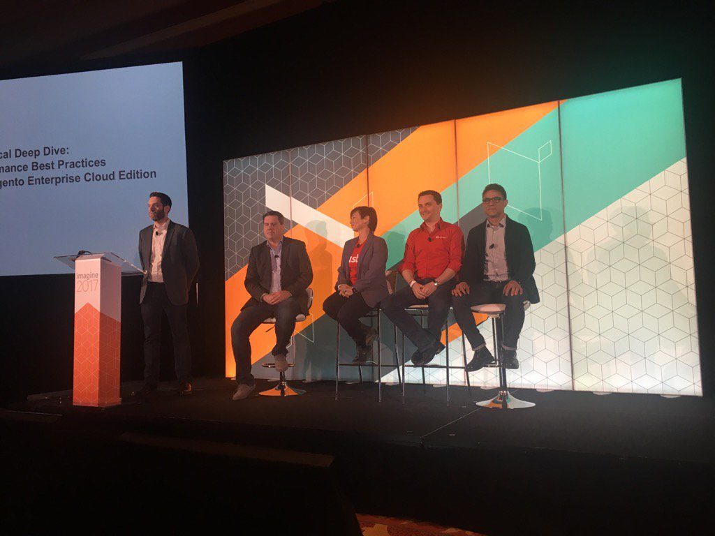 FredPlais: Magento Cloud panel at #Magentoimagine featuring @newrelic @blackfireio and @fastly https://t.co/DEmNoZPd6x