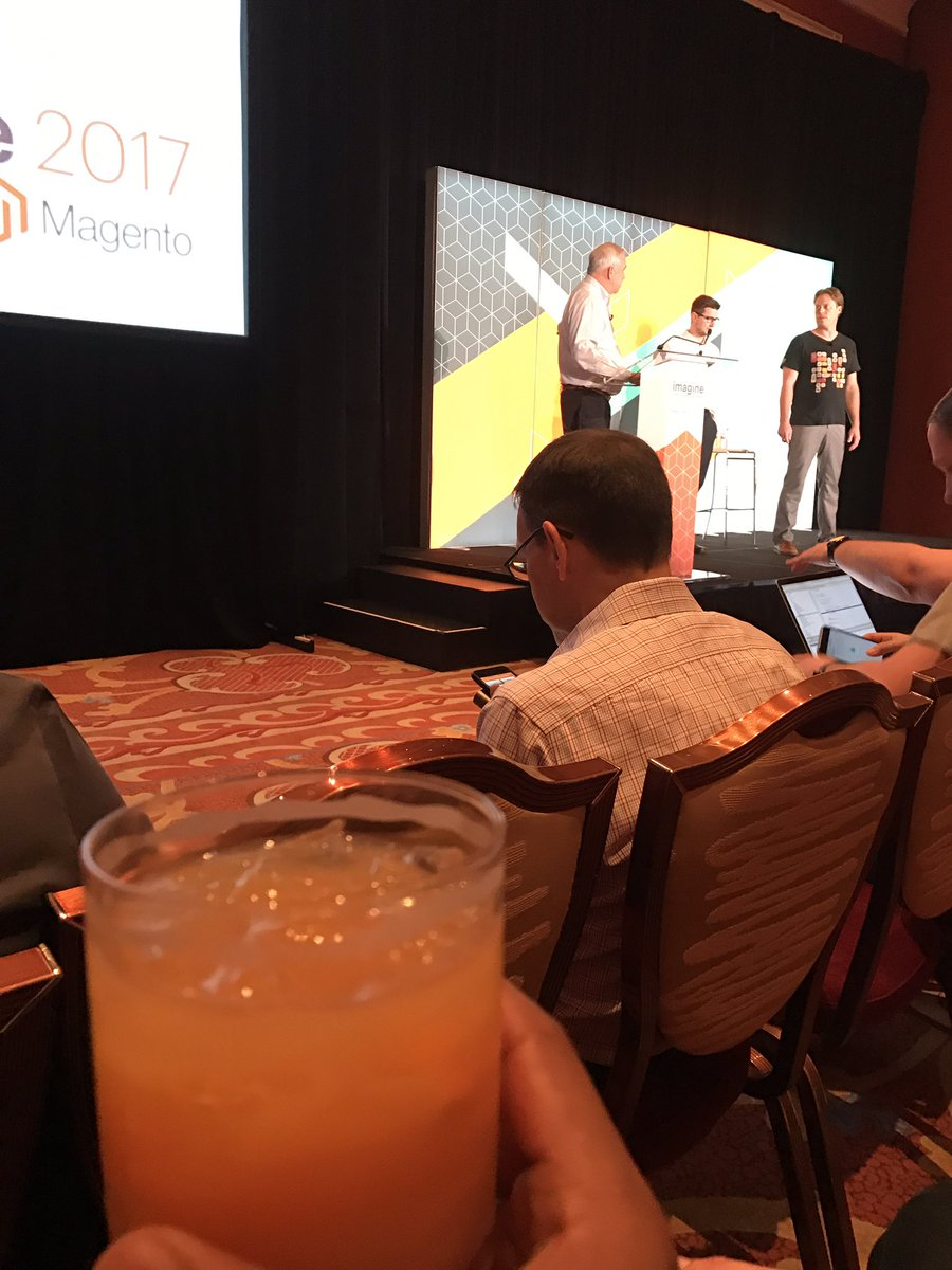 _Talesh: Security session about to start and I've been drinking. This is gonna be fun! #MagentoImagine https://t.co/gmiGR0k9Hn