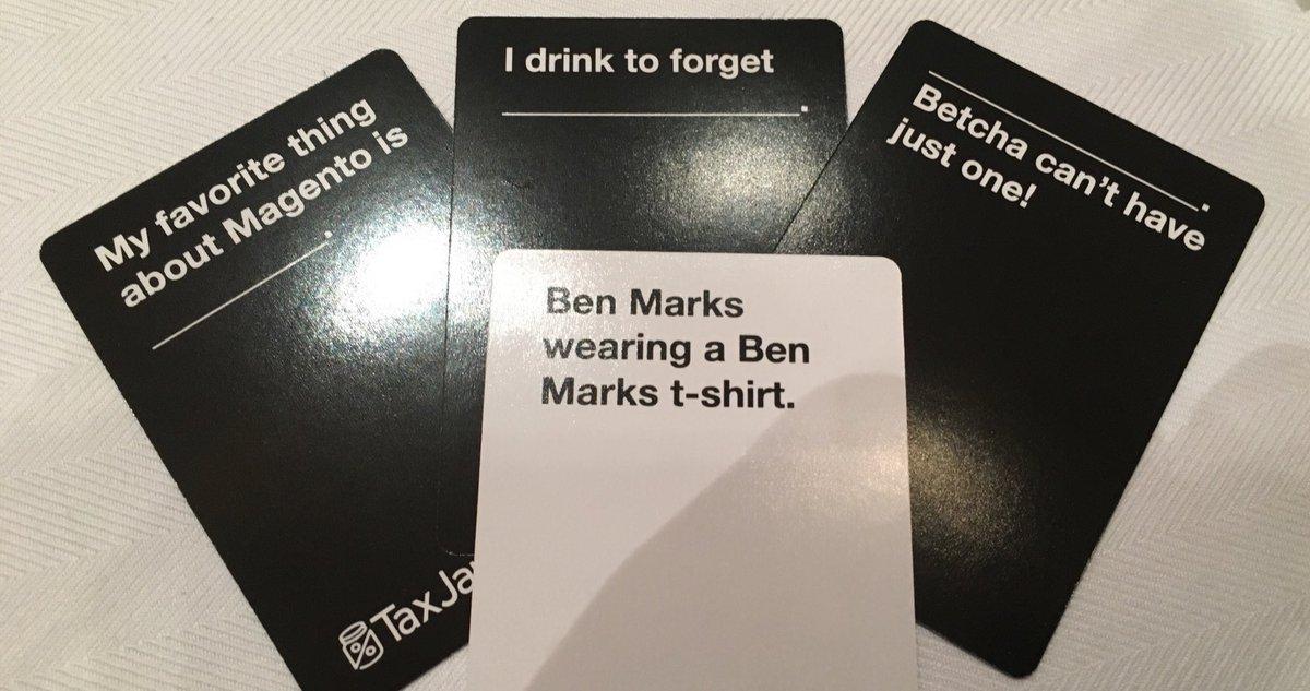 benmarks: The fine folks at @TaxJar have a particular sense of humor. #MagentoImagine https://t.co/W1BK8OavEa