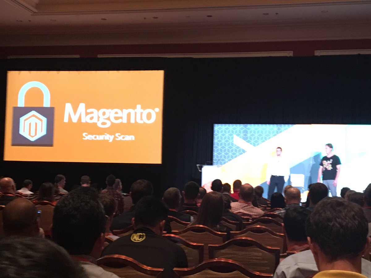 SheroDesigns: Big announcement ! Magento security scan unveiled at #Magentoimagine Free for all Magento stores - m1 & m2 ! https://t.co/Bxr1IStsyM