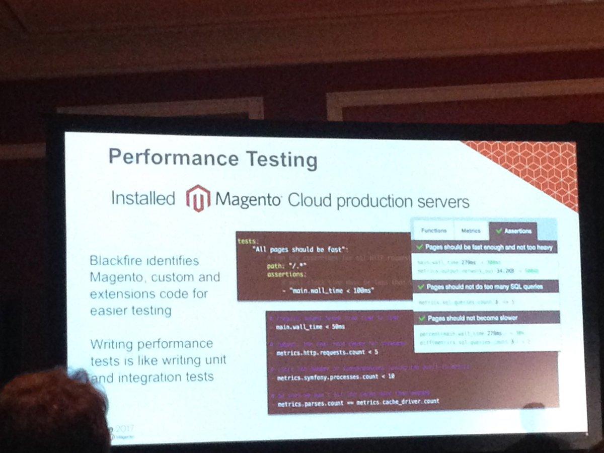 SheroDesigns: Performance Testing with @blackfireio #MagentoImagine https://t.co/WtdxXPTGhR