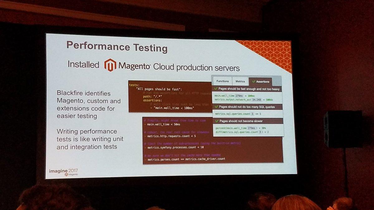 summasolutions: Blackfire allows to write performance tests, not just profiling #MagentoImagine https://t.co/IgeyKrSKJ1