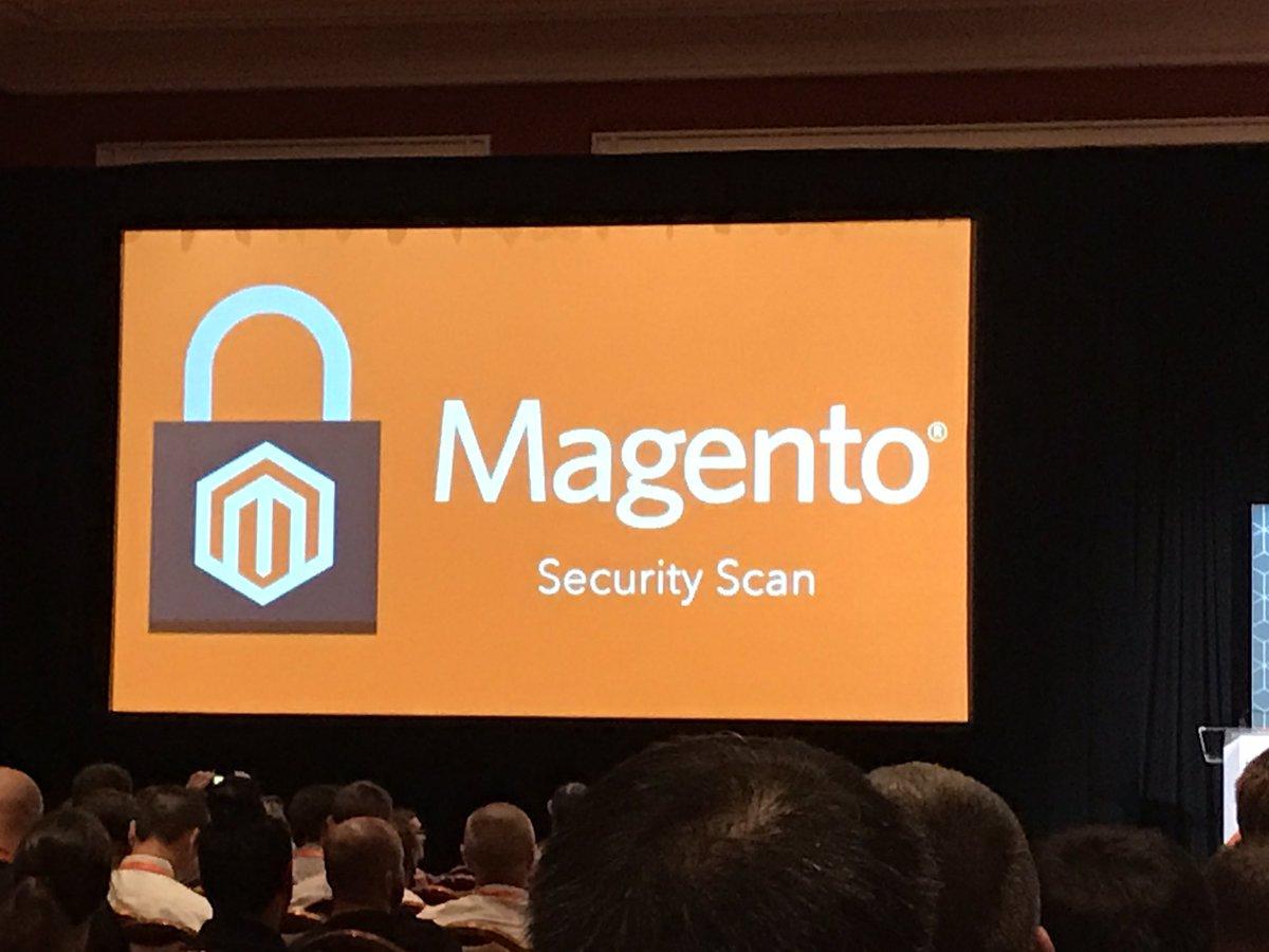 JaroF: #magento führt #security scan tool ein! News von der #MagentoImagine https://t.co/En9QQZbWO1