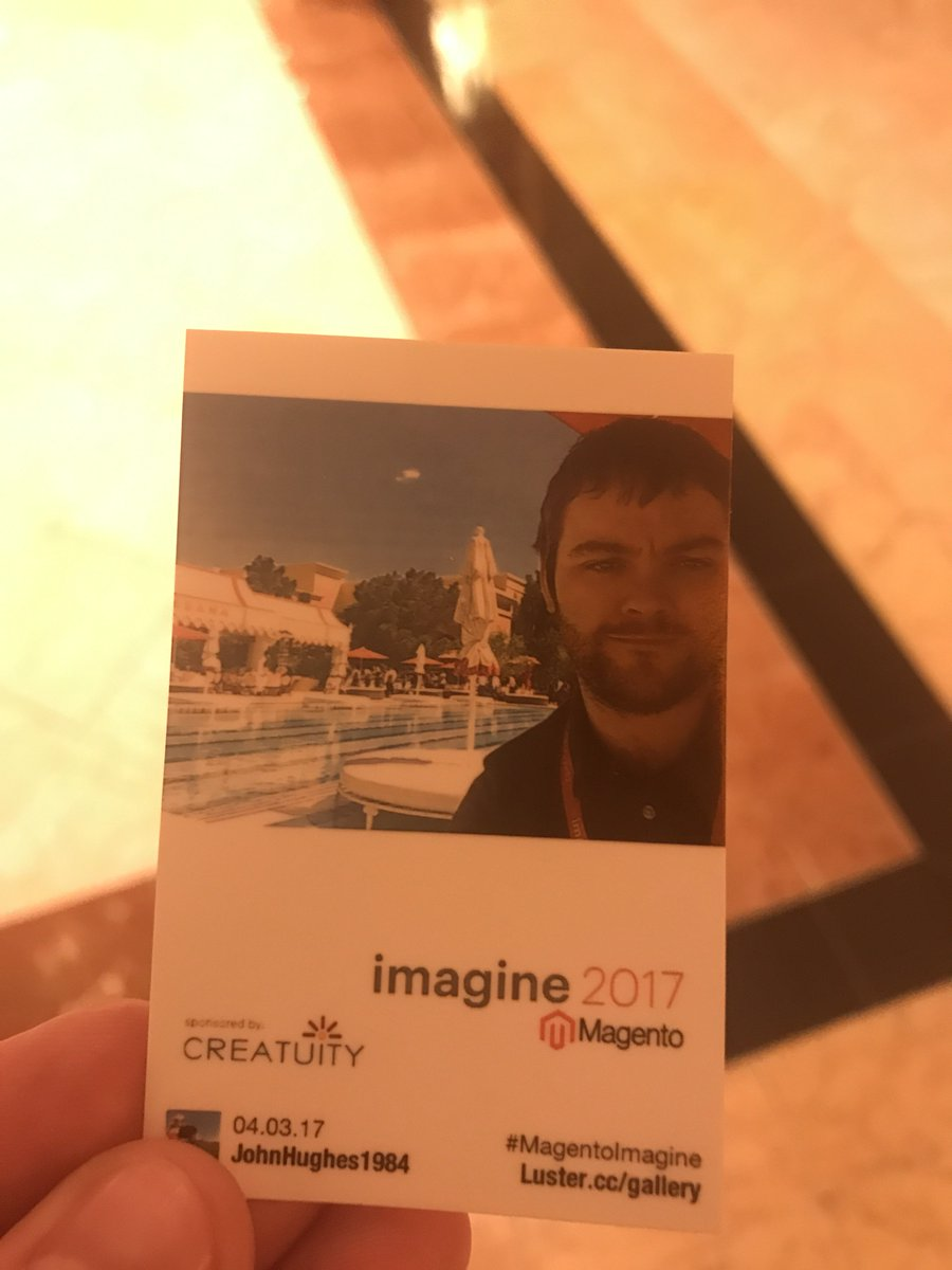 JohnHughes1984: Thanks for my mini Polaroid pic @Creatuity intrigued as to what the final mosaic will reveal #MagentoImagine https://t.co/CQ1uOxi5Y2